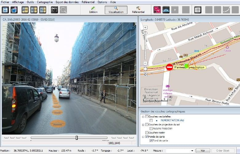 Relevé de patrimoine : cartographie des façades